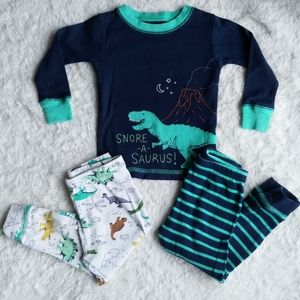 Toddler dinosaur pajama set
